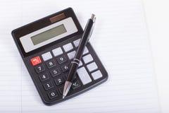 Ручка на калькуляторе Стоковые Изображения