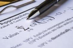 Ручка на модели исходящей наличности скидки Стоковая Фотография RF