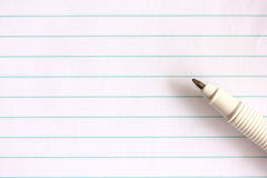 Ручка на тетради стоковые фото