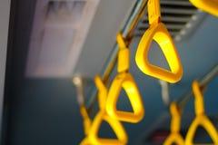 Ручка на MRT, предотвращает свергать система метро o Стоковое Изображение