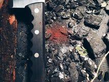 Ручка ножа конец-вверх Стоковая Фотография RF