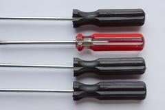 Ручка отвертки отдельно на белой предпосылке Стоковое фото RF