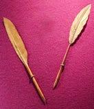 Ручка пера золота Стоковое Изображение RF