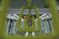 Ручка поезда на mrt Стоковые Изображения RF