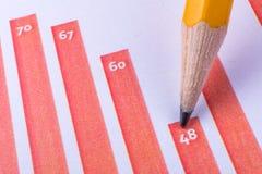 Ручка показывая диаграмму Стоковое Изображение RF