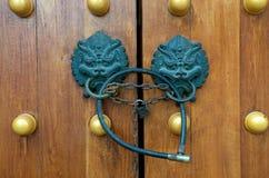 ручка строба дракона двери Стоковые Фото