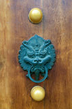 ручка строба дракона двери Стоковая Фотография