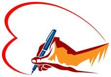 Ручка с влюбленностью Стоковые Изображения RF