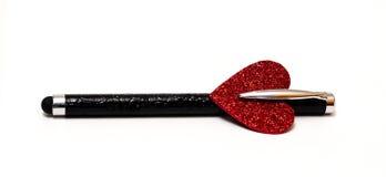 Ручка с сердцем Стоковая Фотография
