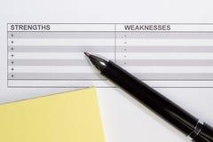 Ручка с списком Стоковые Изображения RF