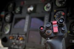 Ручка управления вертолета стоковое изображение