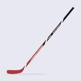 Ручка хоккея на льде изолированная на предпосылке также вектор иллюстрации притяжки corel Стоковые Фотографии RF