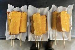 Ручка хлеба с маслом Стоковое Изображение RF