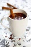ручка циннамона шоколада горячая стоковое изображение rf