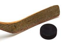 ручка шайбы хоккея Стоковая Фотография RF