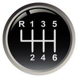 ручка шестерни s автомобиля Стоковые Фотографии RF