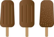 ручка льда cream десерта шоколада деревянная Стоковое Изображение
