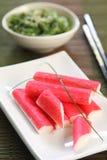 ручка японца еды рака стоковая фотография rf