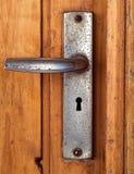 ручка grunge двери стоковая фотография