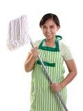 Ручка mop дамы стоковое изображение rf