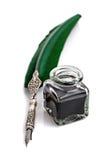 Ручка Quill и колодец чернил Стоковые Изображения