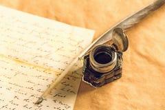Ручка Quill Стоковые Фото