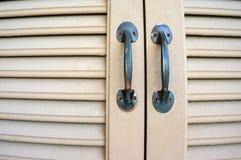 Ручки двойной двери Стоковые Фото