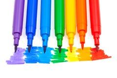 Ручки войлока цвета радуги Стоковые Фотографии RF