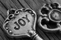 Ручки ключа металла на древесине Стоковая Фотография
