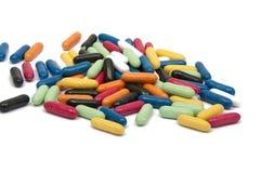 ручки конфеты лакрицы красочные стоковое фото rf