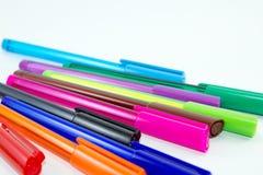 Ручки конца-вверх красочные изолированные на белой предпосылке Стоковая Фотография RF
