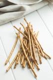 ручки кренделя солёные стоковое фото