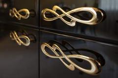 Ручки мебели золота Стоковое Изображение RF