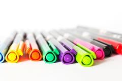 Ручки отметки цветов изолированные на белой предпосылке Стоковое фото RF