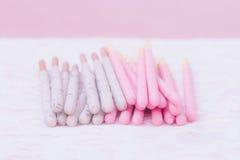 Ручки печенья предусматриванные в шоколаде клубники приправили и coo Стоковая Фотография