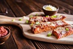 Ручки пиццы салями Стоковые Изображения RF