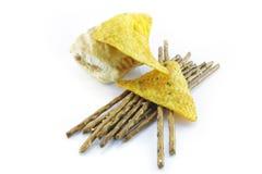 ручки сосиски крена кренделя nachos Стоковые Фотографии RF