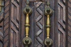 Ручки старых дверей Стоковое Изображение