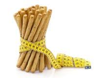 Ручки хлеба & измеряя лента Стоковая Фотография