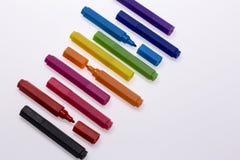 Ручки цвета на белой предпосылке Стоковое Фото