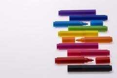 Ручки цвета на белой предпосылке Стоковое Изображение RF