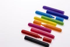 Ручки цвета на белой предпосылке Стоковая Фотография RF