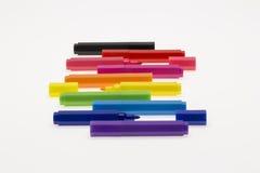 Ручки цвета на белой предпосылке Стоковое Изображение