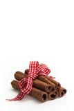 Ручки циннамона с смычком рождества Стоковые Изображения