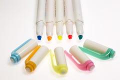 Ручки Highlighter пастельных цветов Стоковое фото RF