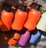 Ручная лестница пестицидов спрейера сада Стоковые Изображения RF