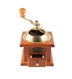 Ручной изолированный точильщик мельницы кофейного зерна Стоковое Изображение