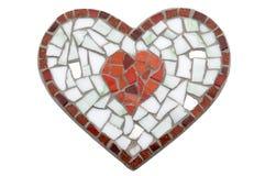 Ручной работы (изолированное) сердце мозаики Стоковая Фотография