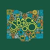 Ручной работы иллюстрация задняя школа к Элемент для дизайна, столба Стоковые Фотографии RF