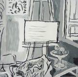 Комната картины - ручной работы картина Стоковое фото RF